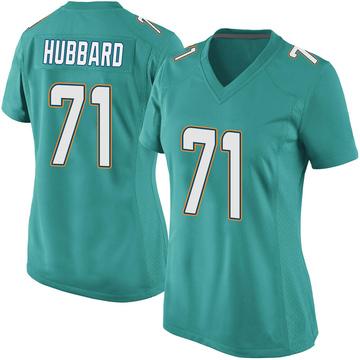 Women's Nike Miami Dolphins Jonathan Hubbard Aqua Team Color Jersey - Game