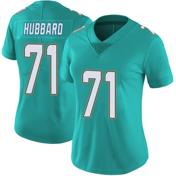 Women's Nike Miami Dolphins Jonathan Hubbard Aqua Team Color Vapor Untouchable Jersey - Limited