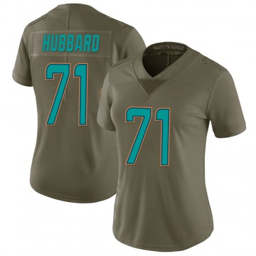 Women's Nike Miami Dolphins Jonathan Hubbard Green 2017 Salute to Service Jersey - Limited