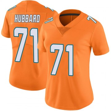 Women's Nike Miami Dolphins Jonathan Hubbard Orange Color Rush Jersey - Limited