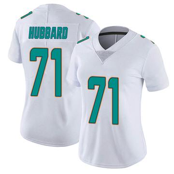 Women's Nike Miami Dolphins Jonathan Hubbard White limited Vapor Untouchable Jersey -