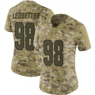 Women's Nike Miami Dolphins Jonathan Ledbetter Camo 2018 Salute to Service Jersey - Limited