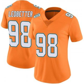Women's Nike Miami Dolphins Jonathan Ledbetter Orange Color Rush Jersey - Limited
