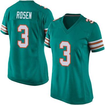 Women's Nike Miami Dolphins Josh Rosen Aqua Alternate Jersey - Game