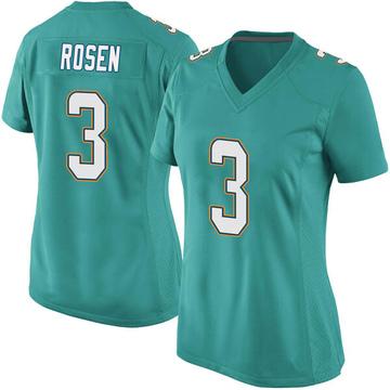 Women's Nike Miami Dolphins Josh Rosen Aqua Team Color Jersey - Game