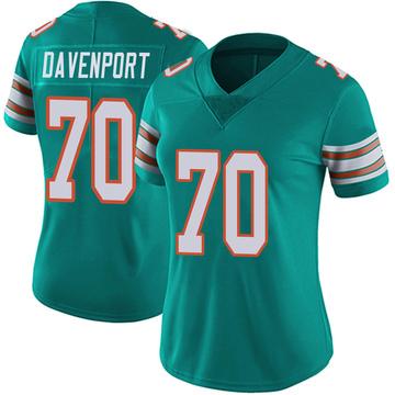 Women's Nike Miami Dolphins Julie'n Davenport Aqua Alternate Vapor Untouchable Jersey - Limited
