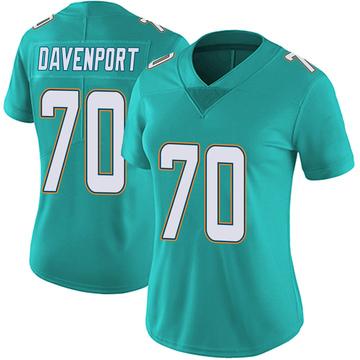 Women's Nike Miami Dolphins Julie'n Davenport Aqua Team Color Vapor Untouchable Jersey - Limited