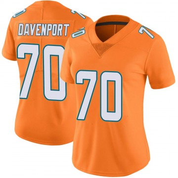 Women's Nike Miami Dolphins Julie'n Davenport Orange Color Rush Jersey - Limited