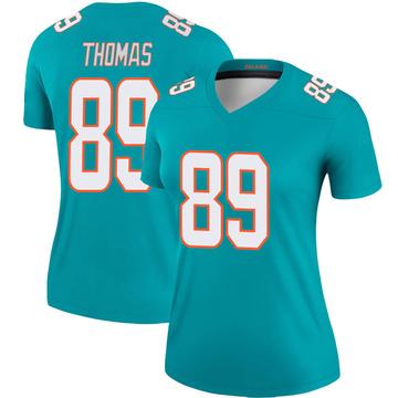 Women's Nike Miami Dolphins Julius Thomas Aqua Jersey - Legend