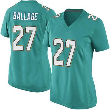 Women's Nike Miami Dolphins Kalen Ballage Aqua Team Color Jersey - Game