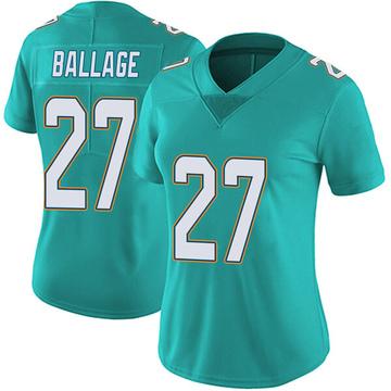 Women's Nike Miami Dolphins Kalen Ballage Aqua Team Color Vapor Untouchable Jersey - Limited