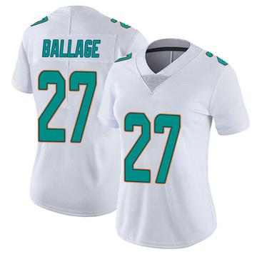 Women's Nike Miami Dolphins Kalen Ballage White limited Vapor Untouchable Jersey -