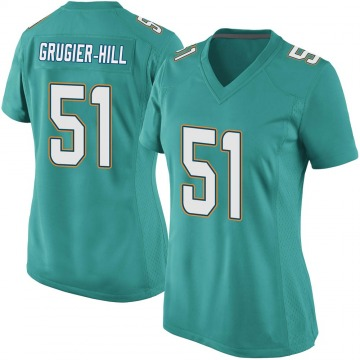 Women's Nike Miami Dolphins Kamu Grugier-Hill Aqua Team Color Jersey - Game
