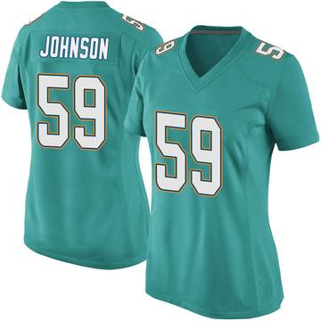 Women's Nike Miami Dolphins Kylan Johnson Aqua Team Color Jersey - Game
