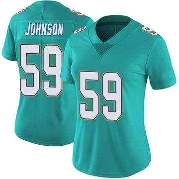 Women's Nike Miami Dolphins Kylan Johnson Aqua Team Color Vapor Untouchable Jersey - Limited