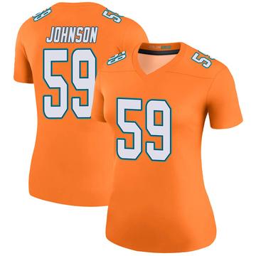 Women's Nike Miami Dolphins Kylan Johnson Orange Color Rush Jersey - Legend