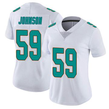 Women's Nike Miami Dolphins Kylan Johnson White limited Vapor Untouchable Jersey -