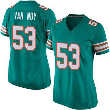 Women's Nike Miami Dolphins Kyle Van Noy Aqua Alternate Jersey - Game