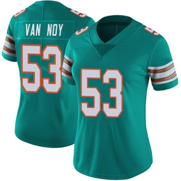 Women's Nike Miami Dolphins Kyle Van Noy Aqua Alternate Vapor Untouchable Jersey - Limited