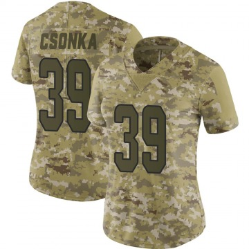 Women's Nike Miami Dolphins Larry Csonka Camo 2018 Salute to Service Jersey - Limited