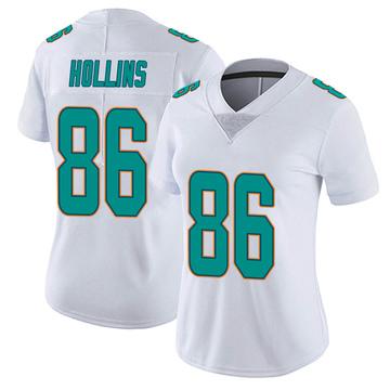 Women's Nike Miami Dolphins Mack Hollins White limited Vapor Untouchable Jersey -
