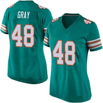 Women's Nike Miami Dolphins MarQueis Gray Gray Aqua Alternate Jersey - Game