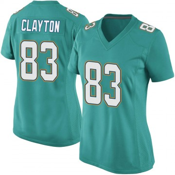 Women's Nike Miami Dolphins Mark Clayton Aqua Team Color Jersey - Game