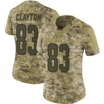 Women's Nike Miami Dolphins Mark Clayton Camo 2018 Salute to Service Jersey - Limited