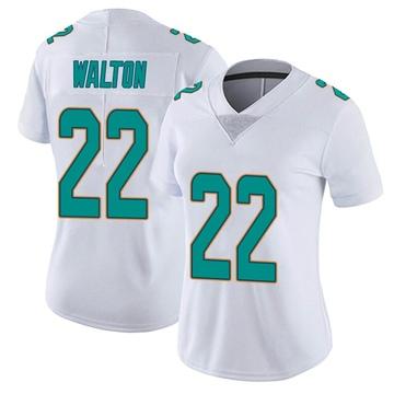 Women's Nike Miami Dolphins Mark Walton White limited Vapor Untouchable Jersey -