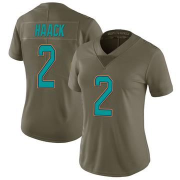 Women's Nike Miami Dolphins Matt Haack Green 2017 Salute to Service Jersey - Limited