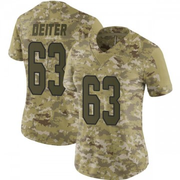 Women's Nike Miami Dolphins Michael Deiter Camo 2018 Salute to Service Jersey - Limited