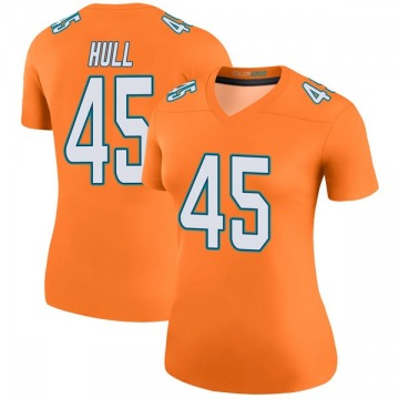 Women's Nike Miami Dolphins Mike Hull Orange Color Rush Jersey - Legend