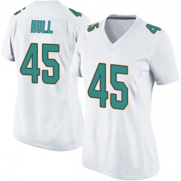 Women's Nike Miami Dolphins Mike Hull White Jersey - Game