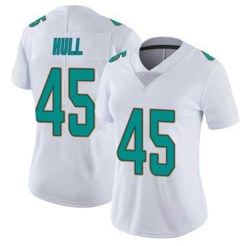 Women's Nike Miami Dolphins Mike Hull White limited Vapor Untouchable Jersey -