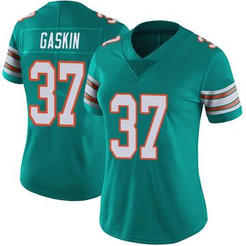 Women's Nike Miami Dolphins Myles Gaskin Aqua Alternate Vapor Untouchable Jersey - Limited