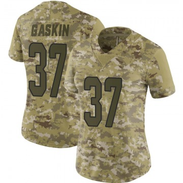 Women's Nike Miami Dolphins Myles Gaskin Camo 2018 Salute to Service Jersey - Limited
