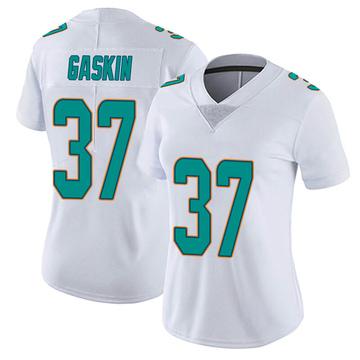 Women's Nike Miami Dolphins Myles Gaskin White limited Vapor Untouchable Jersey -