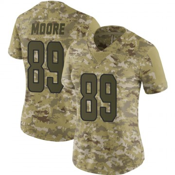 Women's Nike Miami Dolphins Nat Moore Camo 2018 Salute to Service Jersey - Limited