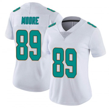 Women's Nike Miami Dolphins Nat Moore White limited Vapor Untouchable Jersey -