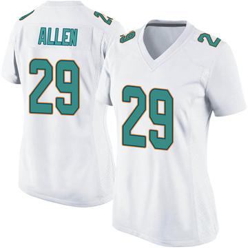 Women's Nike Miami Dolphins Nate Allen White Jersey - Game