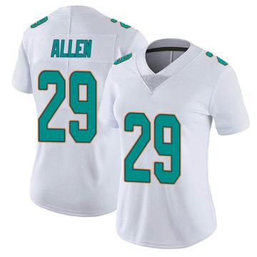 Women's Nike Miami Dolphins Nate Allen White limited Vapor Untouchable Jersey -
