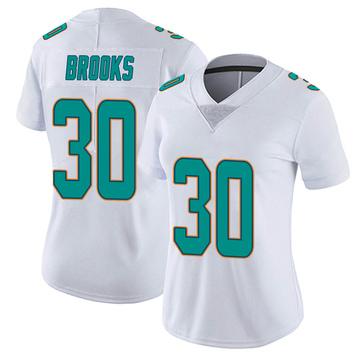 Women's Nike Miami Dolphins Nate Brooks White limited Vapor Untouchable Jersey -