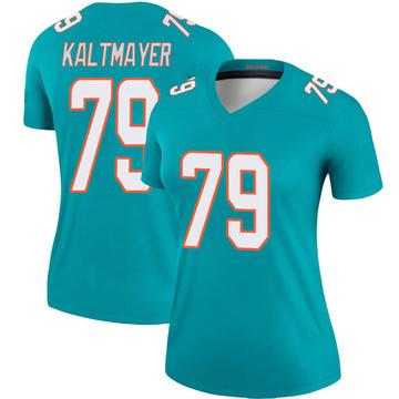 Women's Nike Miami Dolphins Nick Kaltmayer Aqua Jersey - Legend
