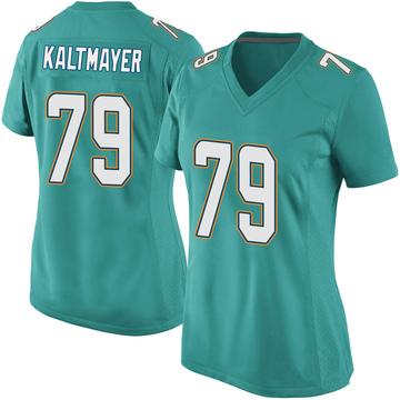 Women's Nike Miami Dolphins Nick Kaltmayer Aqua Team Color Jersey - Game