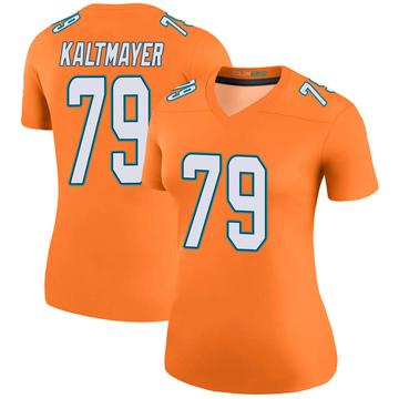 Women's Nike Miami Dolphins Nick Kaltmayer Orange Color Rush Jersey - Legend