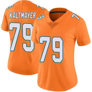 Women's Nike Miami Dolphins Nick Kaltmayer Orange Color Rush Jersey - Limited