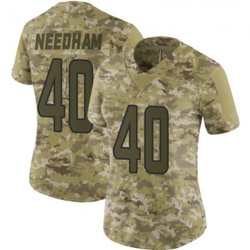 Women's Nike Miami Dolphins Nik Needham Camo 2018 Salute to Service Jersey - Limited