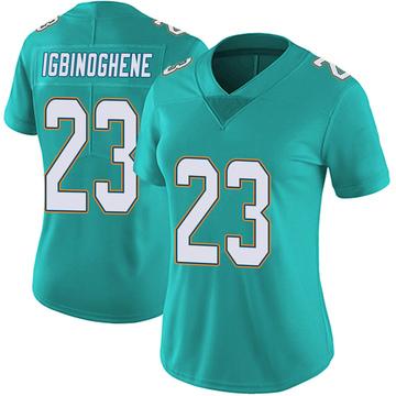 Women's Nike Miami Dolphins Noah Igbinoghene Aqua Team Color Vapor Untouchable Jersey - Limited