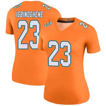 Women's Nike Miami Dolphins Noah Igbinoghene Orange Color Rush Jersey - Legend