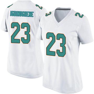 Women's Nike Miami Dolphins Noah Igbinoghene White Jersey - Game